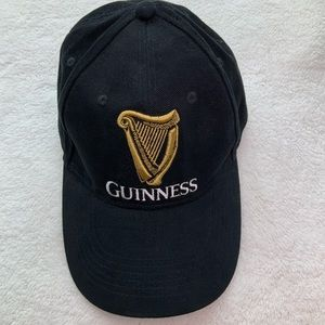 Guinness cap embroidered logo buckle back black